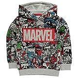 Marvel Comics Avengers Sweat à capuche pour enfant Motif personnages - Gris - 7-8 ans