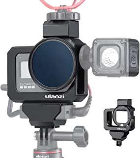 ULANZI G8-5 Vlog Metal Cage for GoPro 8, Microphone/Fill Light Extension Mount Case
