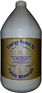 Energy Boost 70 Fulvic Minerals Trace Elements Vitamins and Amino Acids Morningstar Minerals (1 Gallon)