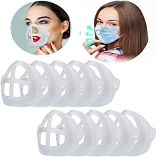 15pcs Clear Face Mask Inner Support Frame Homemade Cloth Mask Cool Silicone Bracket More Space for Comfortable Breathing Washable Reusable