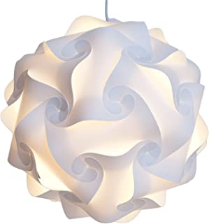 Home Furnishing Puzzle Lamp Shade DIY Pendant Fixture Home Decor White XL(40CM)