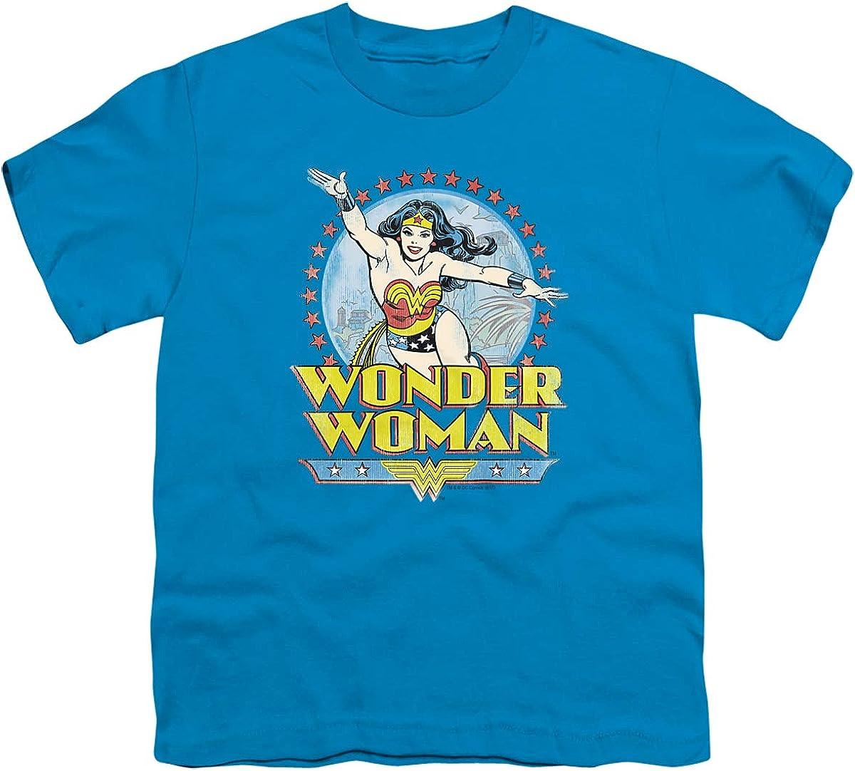 DC Star of Paradise Island Unisex Youth T Shirt, Turquoise, X-Large