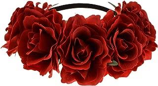 Rose Floral Crown Garland Flower Headband Headpiece for Wedding Festival