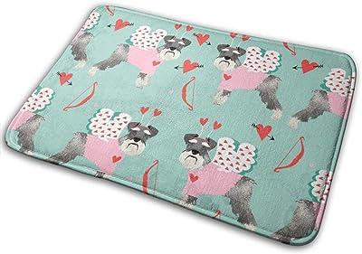 """Schnauzer Love Bug Dog Breed Mint_17329 Doormat Entrance Mat Floor Mat Rug Indoor/Outdoor/Front Door/Bathroom Mats Rubber Non Slip 23.6"""" X 15.8"""""""