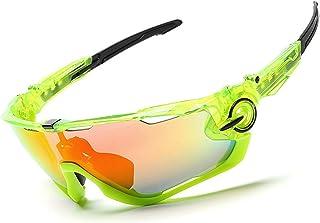4f3a684bdc SonMo &Gafas Deporte Transparentes Plástico Transparente y Plaquetas  Nasales y Fundas de Patillas de Goma para