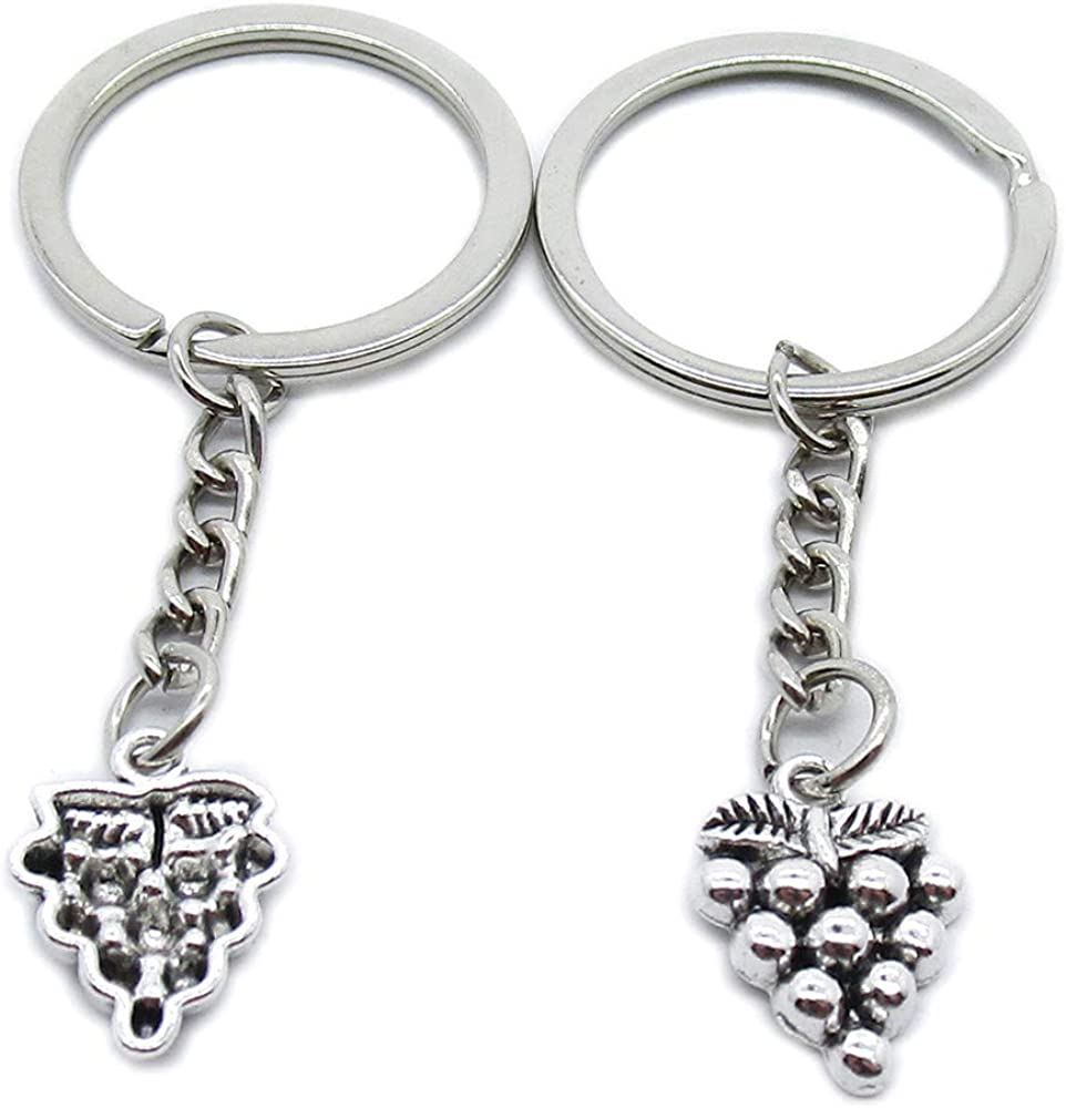 Antique Silver Special Campaign Plated Keyrings Keychains Max 49% OFF C Key Ring Grapes JB5B4