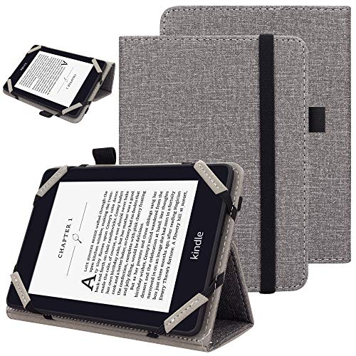 VOVIPO Universal 6-Zoll-E-Reader-Folio-Tasche, Folio-Stand-Tasche mit Handschlaufe Kompatibel mit 6-Zoll-E-Book-Reader von Sony/Kobo/Tolino/Pocketbook
