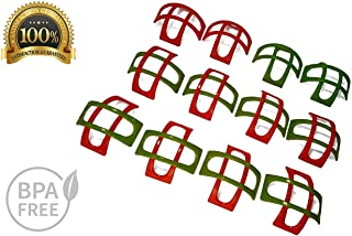 Set Of 24 Taco Holders    24 pcs in 1 Pack For Soft and Hard Shells    12 pcs Red Color and 12 pcs Green Color    BPA Free    Dishwasher and Microwave Safe