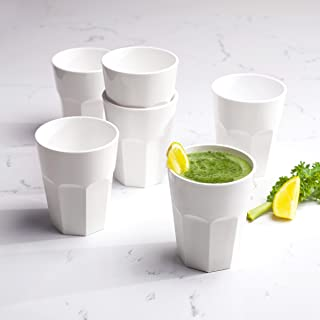 Cupture The Small Cup - Plastic Tumblers, 12 oz, 6-Pack (White)