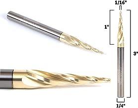 Tranchant 22mm MagiDeal Tungst/ène En Acier Cnc 2 Fl/ûte Spirale Bit Fraise Fraise 4mm Tige