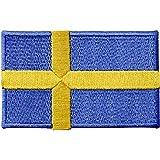 Schweden-Flagge, bestickt, zum Aufbügeln oder Aufnähen, Nationalemblem