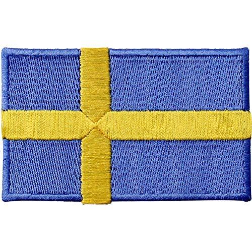Sverige flagga broderad lapp svenskt järn på sy på nationellt emblem
