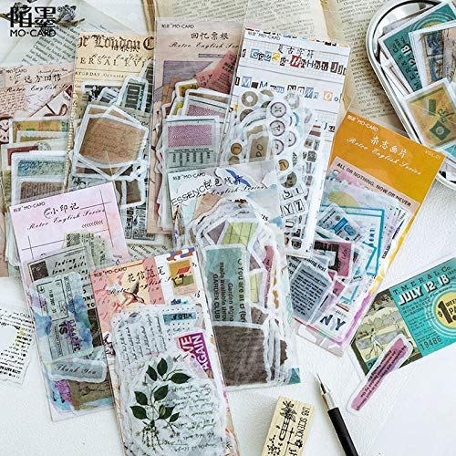 BLOUR Diario japonés Etiqueta Decorativa Calendario Papeles Antiguos Agenda Agenda Pegatinas Lindas Personalizadas Papelería Pegatinas Copos Scrapbooking