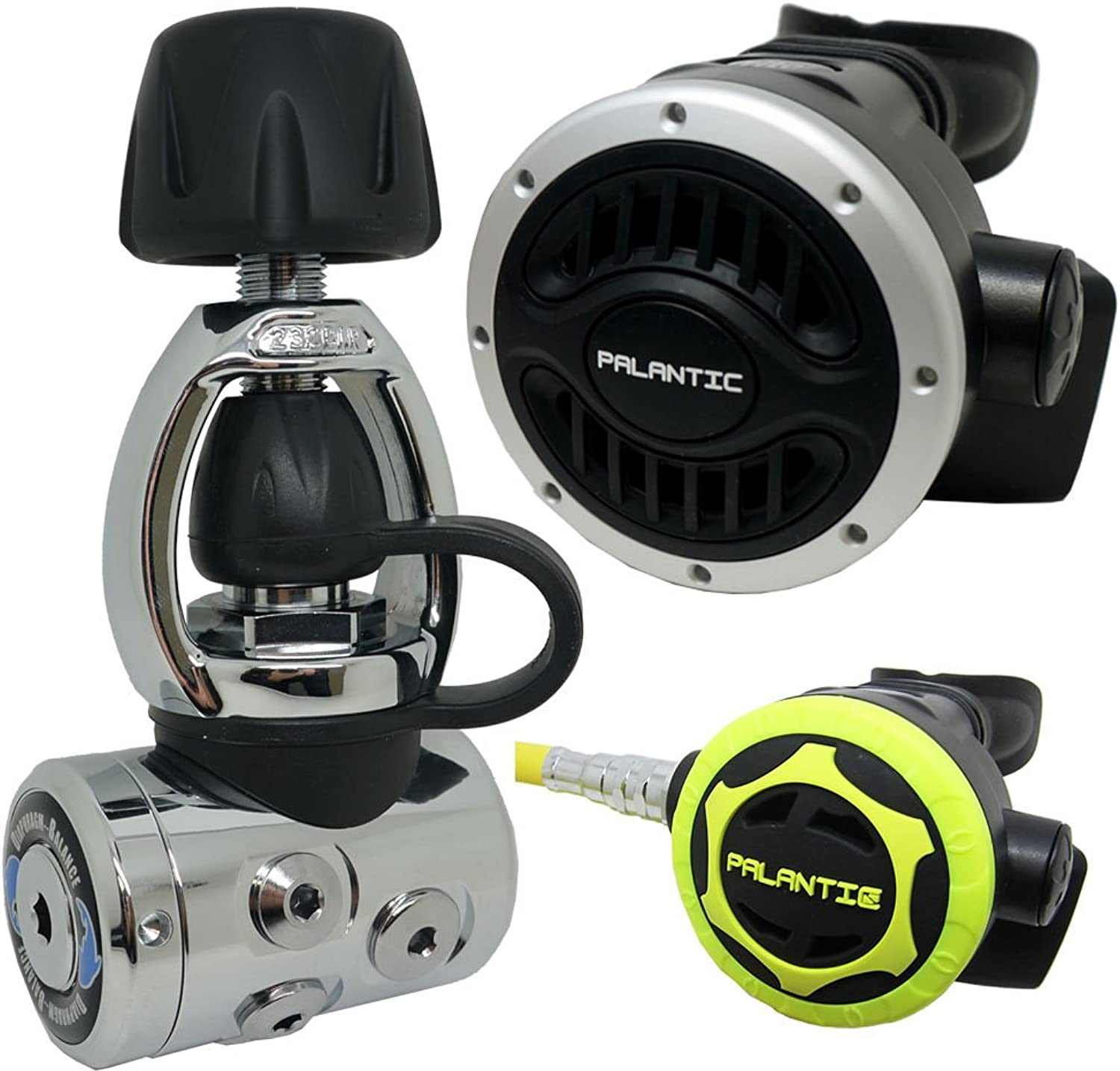 Palantic SCR03YOKENAOC Scuba Diving Dive AS105 Yoke Regulator and Octopus Combo