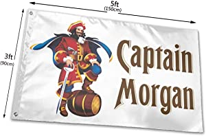 RONGANDHE Captain Morgan Beer White Flag Banner 3x5 Feet Man Cave Party