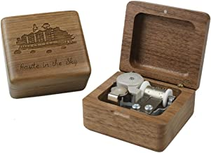 Sinzyo Castle in The Sky Walnut Wood Music Box Retro Wood Carving Movement Musical Boxes Gifts Gifts for Christmas, Birthday, Valentine, Children, Friends