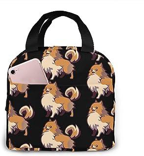 N\A Sac à Lunch Cartoon Pomeranian Dog Isolation Lunch Tote Sac Isotherme réutilisable Boîte à Lunch