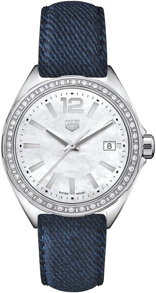 Tag heuer formula 1, orologio da donna,  in acciaio, quadrante in madreperla, cinturino in pelle WBJ131A.FC8251
