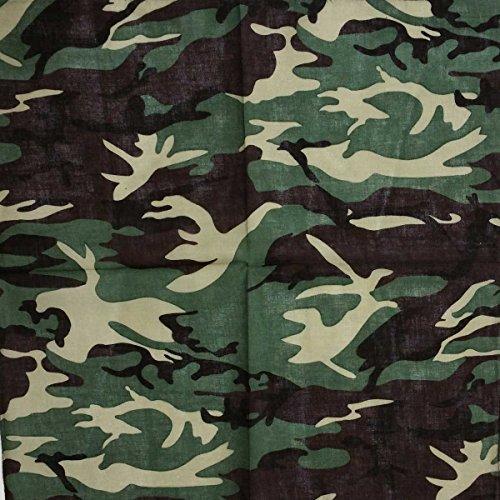 Bandana Halstuch Kopftuch Tarnfarben Camouflage grün