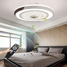 LED-plafondventilator met lamp, moderne onzichtbare ventilator, plafondlamp, ultra-stil, met verlichting, voor eetkamer, s...