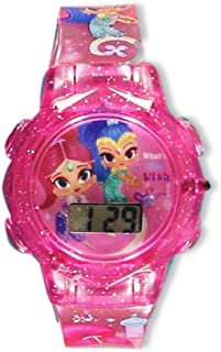 Shimmer and Shine Flashing LCD Watch - Pink, one Size