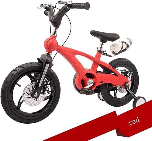 Kinderfürr r HAIZHEN Kinderwagen 14-Zoll Trainingsr rn mädchenfürrad Jungenfürrad 5 Farben erh lich Für Neugeborene (Farbe   rot)
