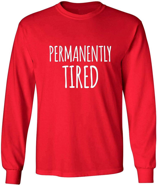 zerogravitee Permanently Tired Adult Long Sleeve T-Shirt