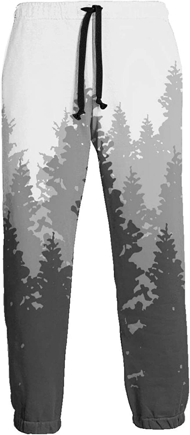 Max 88% OFF Men's Black Forest in Mist Sweatpants Colorado Springs Mall Athletic Sp Elastic Waist