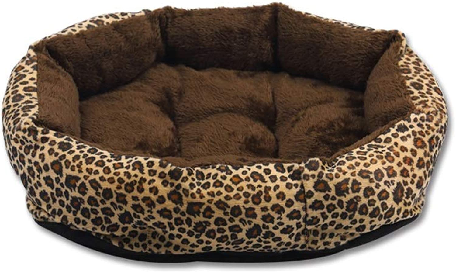 HQSB Pet Bed Soft Washable Basket Dog Bed Cushion with PP Cotton Lining for Dogs Cats (color   Coffee, Size   L)
