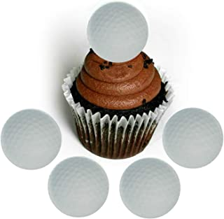 Golf Ball Wafer Paper Toppers 1.5 Inch for Decorating Desserts Cupcakes Cakes Golfing Sports Dad Father's Day Pack of 12