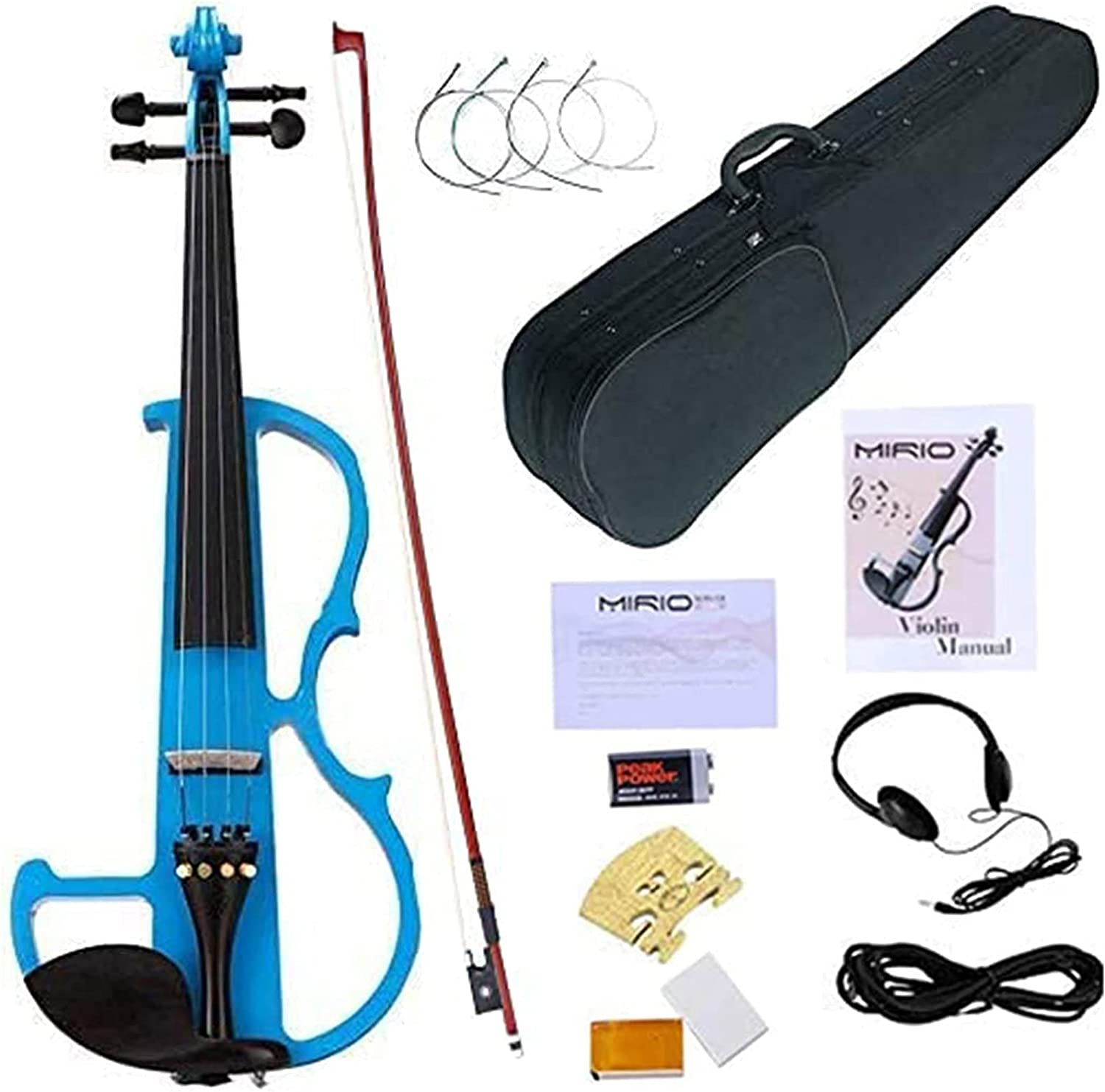 MIRIO Electronic Violin Blue Purchase Full Size Vintage Solid Dedication 4