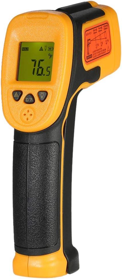 ZJM Pistola de medición de Temperatura Industrial -32 ℃ ~ 550 ° C Indicador de Temperatura Digital láser sin Contacto Pantalla LCD Pistola de Temperatura infrarroja portátil de Alta precisión