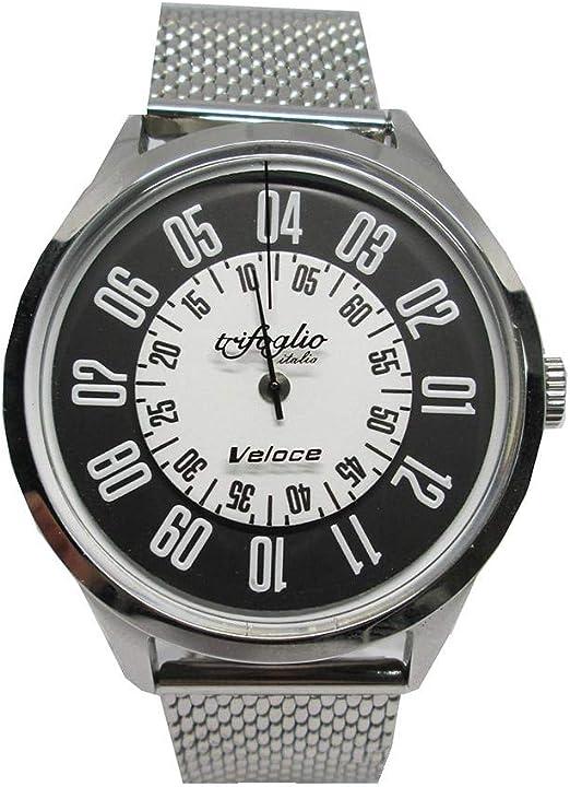 Orologio analogico automatico acciaio pelle veloce trifoglio italia VL000SSBW