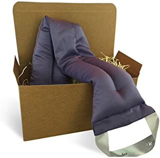 Victoria's Lavender Luxury Microwavable Aromatherapy Lavender Neck Wrap Provides Stress and Neck Pain Relief with Organic ...
