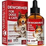 Dewormer for Dogs & Cats (2 OZ) - Treat & Prevent - Broad Spectrum Whipworm, Hookworm, Roundworm & Tapeworm Dewormer - Made in USA - Natural Powerful Blend - Senior Pets, Kitten & Puppy Dewormer