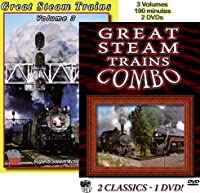 Great Steam Trains, The Complete Set, 3 Volumes on 2 DVDs