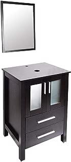 Modern 24 inch Bathroom Vanity MDF Floor Cabinet (Without Sink)