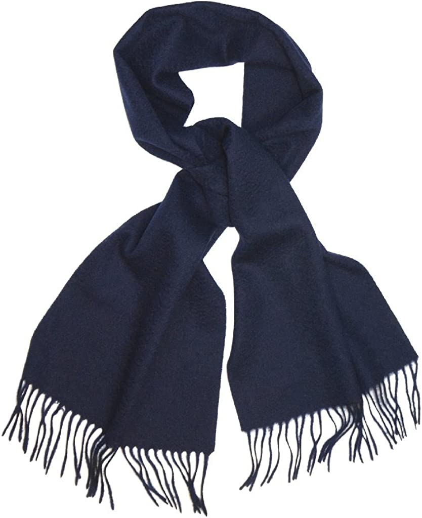 Biagio 100% Wool NECK 5 ☆ popular Scarf 67% OFF of fixed price Solid Scarve Color Men Blue for Navy