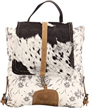 Myra Bag Bloom Bleach Upcycled Canvas & Cowhide Backpack S-1504