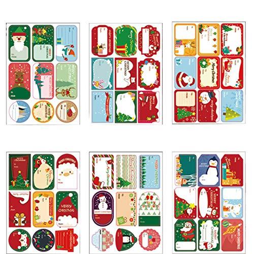216pcs Pegatinas Navideñas, etiquetas autoadhesivas, Pegatina de Navidad Etiquetas Navideñas Adhesivas, para Navidad...