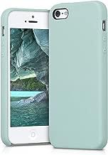 kwmobile Funda compatible con Apple iPhone SE / 5 / 5S - Carcasa de TPU para móvil - Cover trasero en menta mate