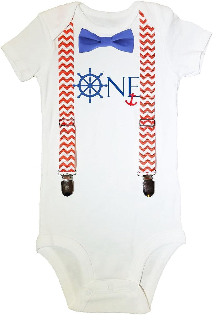 Nautical Birthday shirt Blue and Red Nautical Boy 1st Birthday Outfit Beach Birthday Outfit 1st Birthday Crab Birthday Shirt