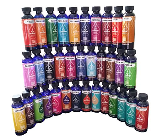 Aromar Aromatherapy Essential Fragrance Oil Spa Collection 2.2oz Each Beginners Set 35 Fragrances