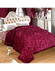 Selective Soft Microfiber Winter Heavy Quilt, Double Size, Metallic Brown