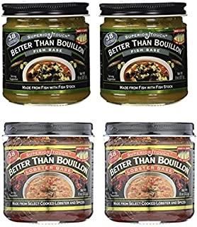 Better Than Bouillon Fish Base 8 oz and Lobster Base 8 oz (2 of each)