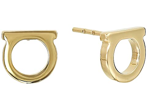 Salvatore Ferragamo Gancini Solid Stud Earrings