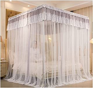 Luxury Palace Blackout Bed Curtains and Mosquito Nets Integrated Dust-proof Top Princess Wind Mosquito Nets Without Bracke...