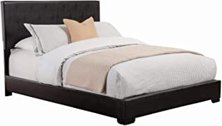 Conner Queen Upholstered Low-Profile Bed Black