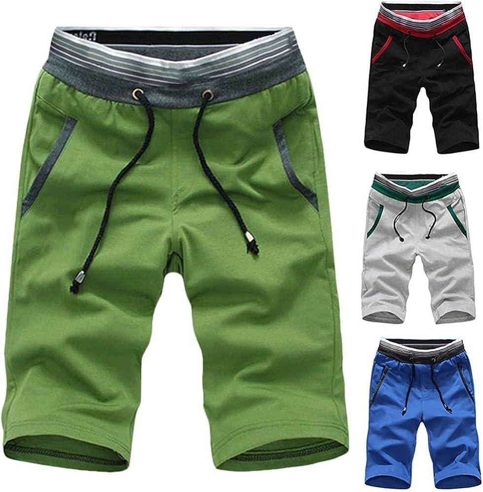 Men's Shorts Summer Casual Beach Shorts Color Block Short Pants Classic Clothing