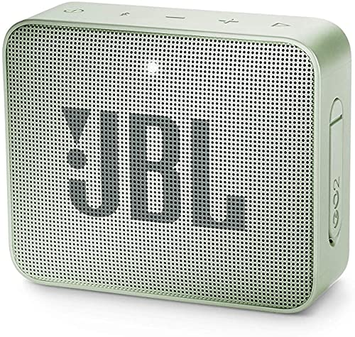 JBL GO 2 Altavoz Bluetooth portátil, Impermeable IPX7, con micrófono, hasta 5 Horas de autonomía, Menta